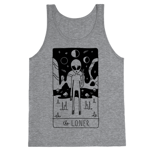 The Loner Tarot Card Tank Top