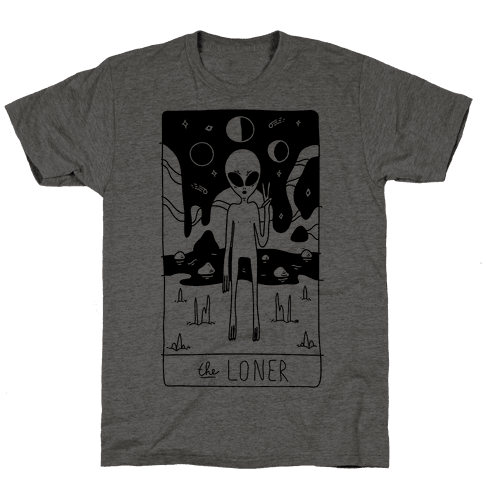 The Loner Tarot Card Mens T-Shirt