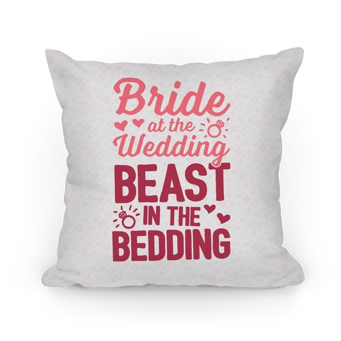 Bride At The Wedding Pillow