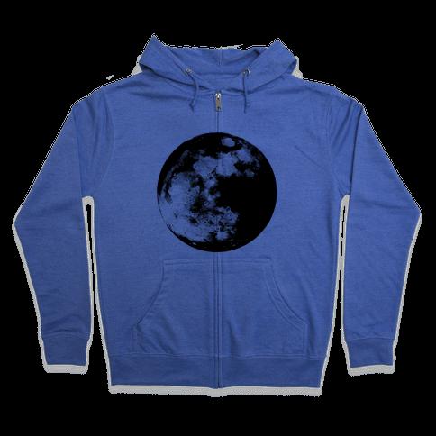 Inverted Moon Zip Hoodie