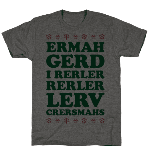 Ermahgerd Crersmahs Mens T-Shirt