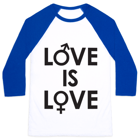 Love is Love (equality design) Baseball Tee