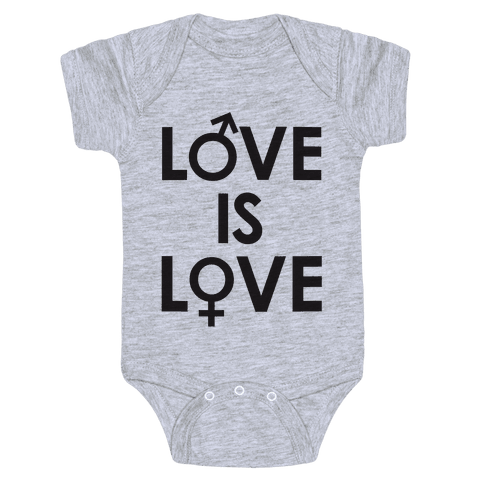 Love is Love (equality design) Baby Onesy