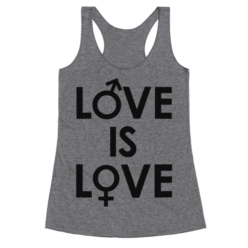 Love is Love (equality design) Racerback Tank Top