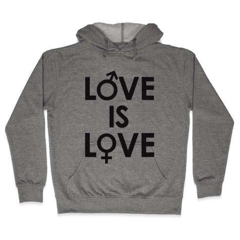 Love is Love (equality design) Hooded Sweatshirt