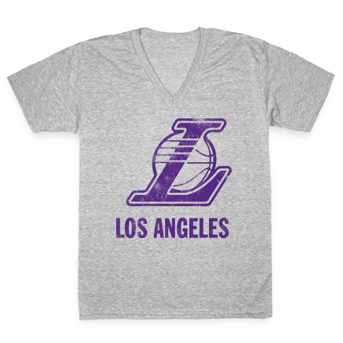 Los Angeles (Vintage) V-Neck Tee Shirt