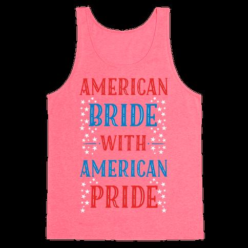 American Bride with American Pride Tank Top