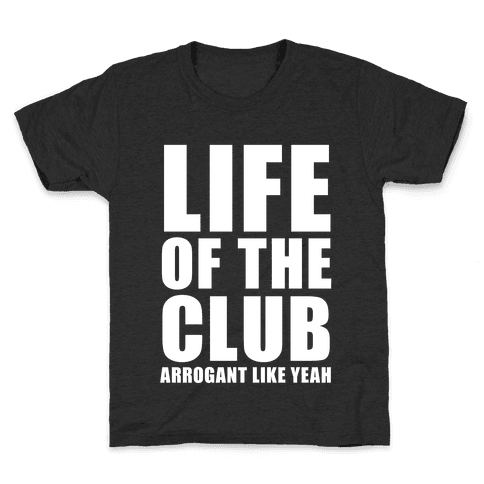 Life Of The Club (White Ink) Kids T-Shirt