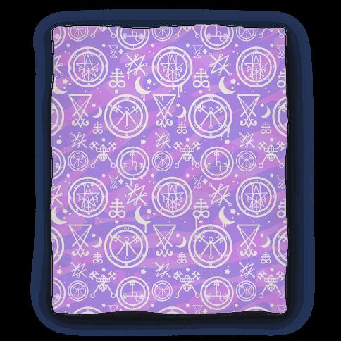 Pastel Goth Demon Sigil Pattern Blanket