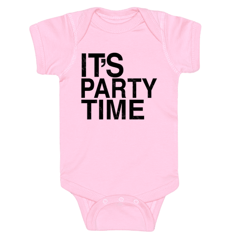 It's Party Time Baby Onesy