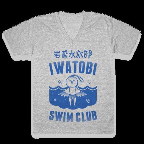 Iwatobi Swim Club V-Neck Tee Shirt