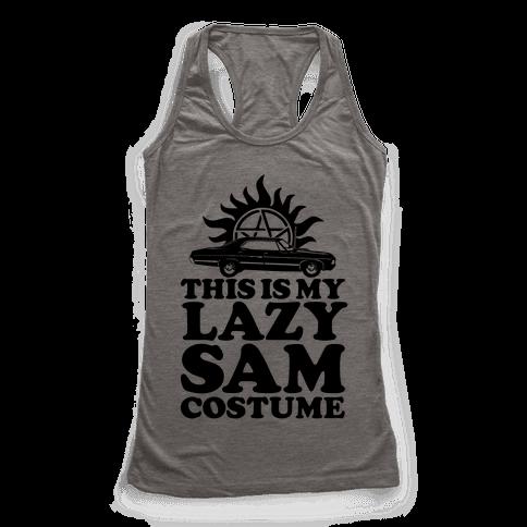 Lazy Sam Costume Racerback Tank Top