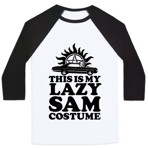 Lazy Sam Costume Baseball Tee