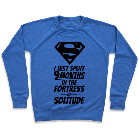 I Just Spent 9 Months In The Fortress Of Solitude Pullover