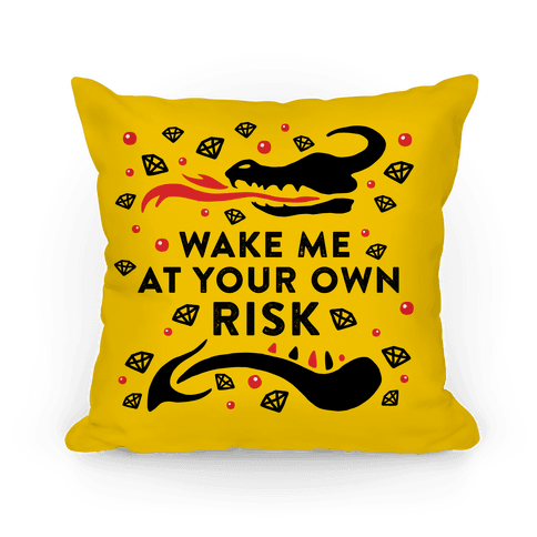 Wake Me At Your Own Risk Pillow