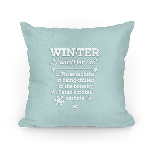 Winter Definition Pillow
