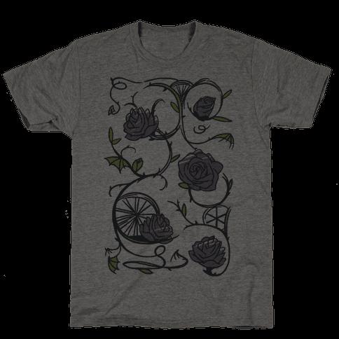 Sleeping Beauty Briar Rose Floral Pattern Mens T-Shirt