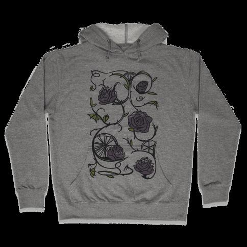 Sleeping Beauty Briar Rose Floral Pattern Hooded Sweatshirt