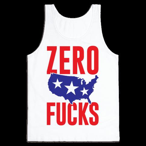 Zero F***s America Tank Top