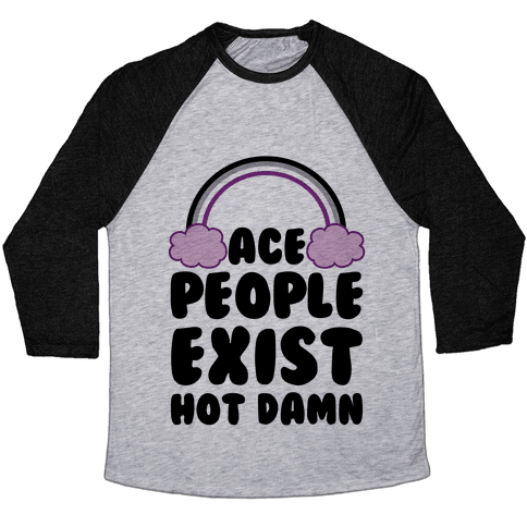 Ace People Exist, Hot Damn Baseball Tee