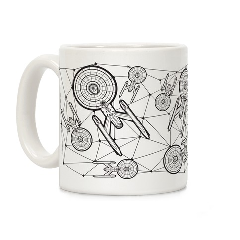 Starship Enterprise Pattern Coffee Mug