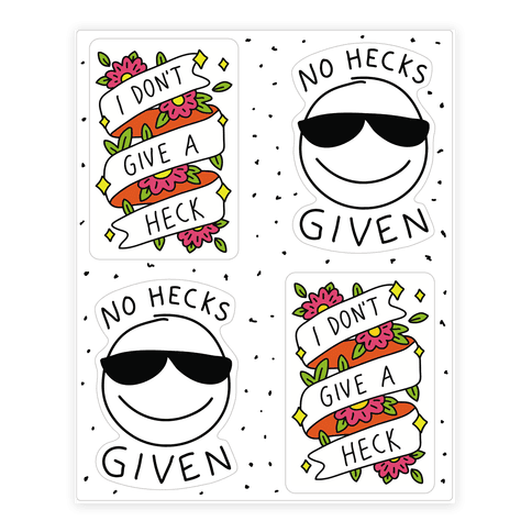 No Hecks  Sticker/Decal Sheet