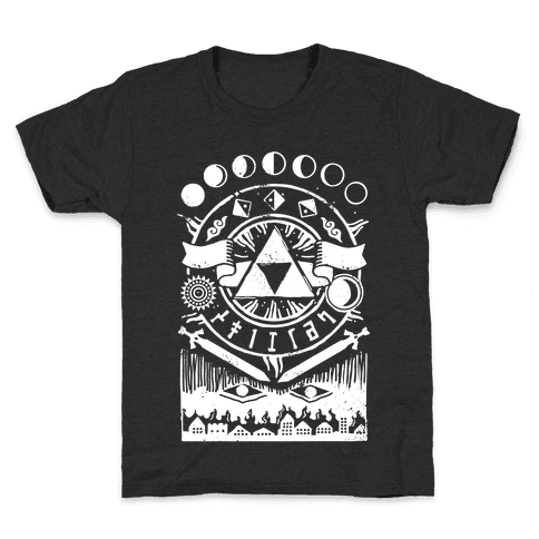 Hyrule Occult Symbols Kids T-Shirt