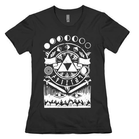 Hyrule Occult Symbols Womens T-Shirt