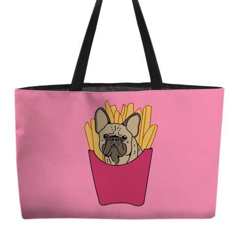 French Fry French Bulldog Weekender Tote