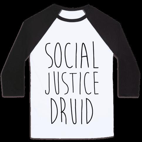 Social Justice Druid Baseball Tee