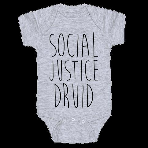 Social Justice Druid Baby Onesy