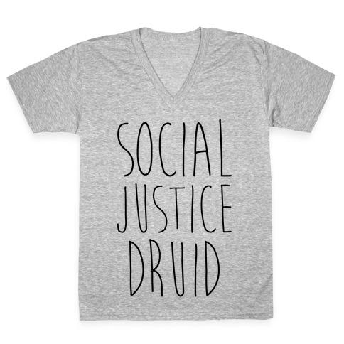 Social Justice Druid V-Neck Tee Shirt