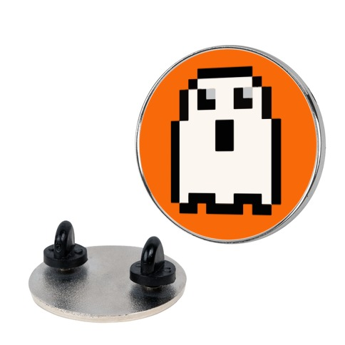Pixel Halloween Ghost Pin