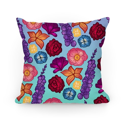 Flowery Pattern Pillow