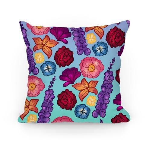 Flowery Pattern Pillow