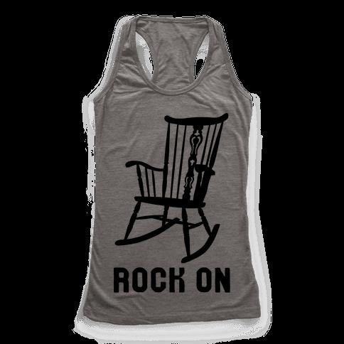 Rock On Rocking Chair Racerback Tank Top
