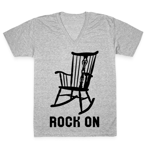 Rock On Rocking Chair V-Neck Tee Shirt