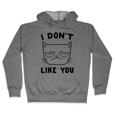 I Don't Like You Hooded Sweatshirt