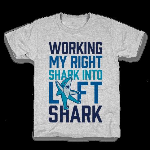 Working My Right Shark Into Left Shark Kids T-Shirt