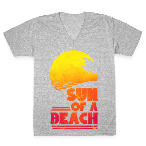 Sun of a Beach V-Neck Tee Shirt