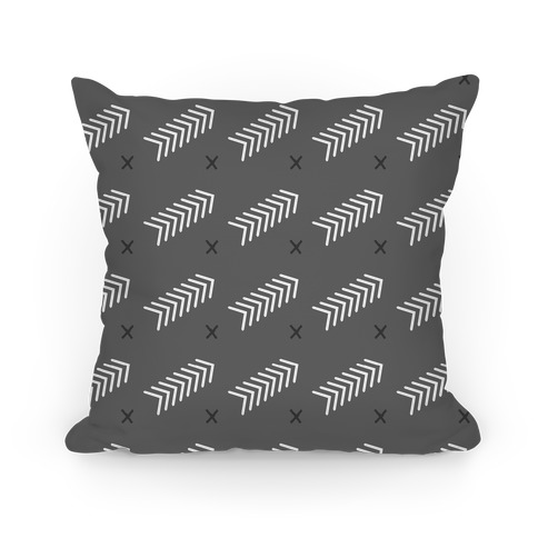 Gray Abstract Chevron Pattern Pillow
