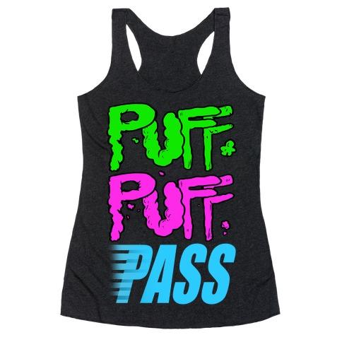 Puff Puff Pass Racerback Tank Top