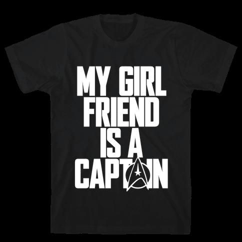 My Girlfriend Is A Captain Mens T-Shirt
