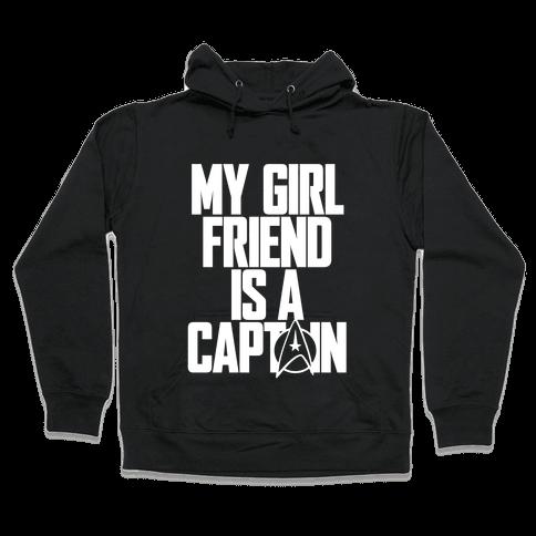 My Girlfriend Is A Captain Hooded Sweatshirt
