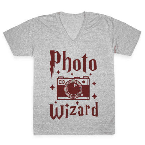 Photo Wizard V-Neck Tee Shirt