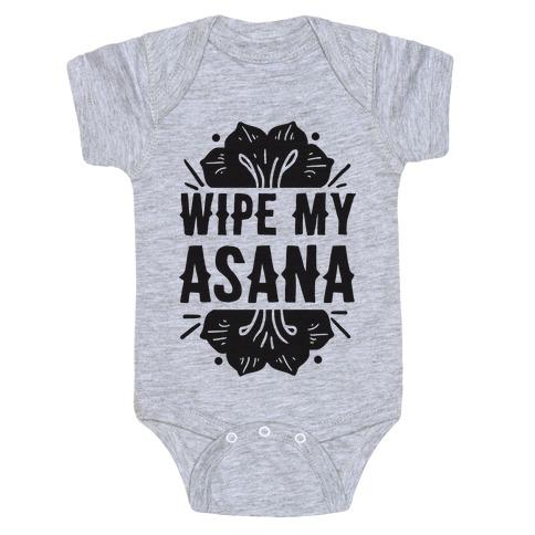 Wipe My Asana Baby Onesy