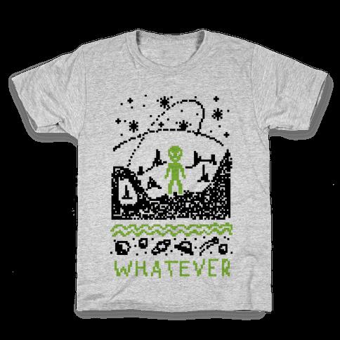 Whatever Alien Ugly Christmas Sweater Kids T-Shirt