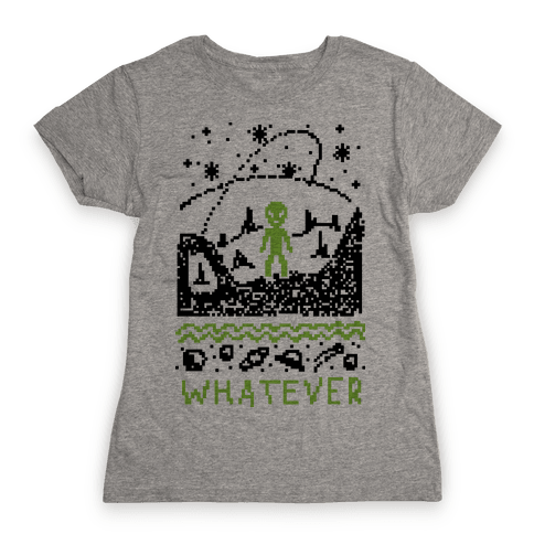 Whatever Alien Ugly Christmas Sweater Womens T-Shirt