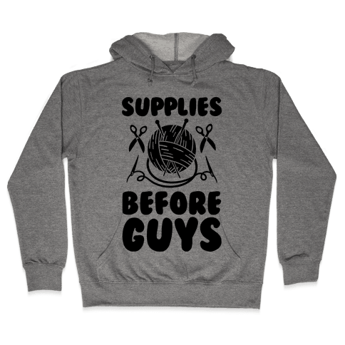 Supplies Before Guys Hooded Sweatshirt