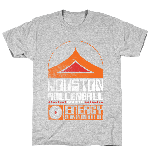 Houston Rollerball Team Mens T-Shirt